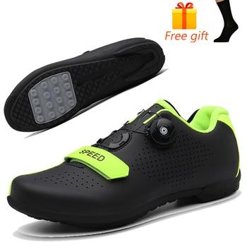 Carbon Fiber Men Cycling Shoe Breathable Triathlon Mountain Bike Shoes Man Sport Road Racing Snaeker Spin Buckle 15
