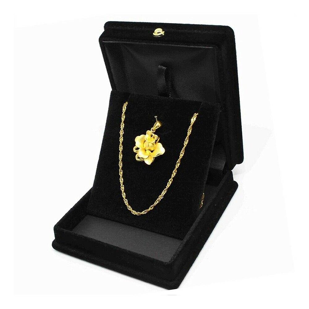 Women Luxury Necklace Box High-grade Jewelry Gift Box Wedding Ring Holder Velvet Necklace Pendant Jewelry Box Case