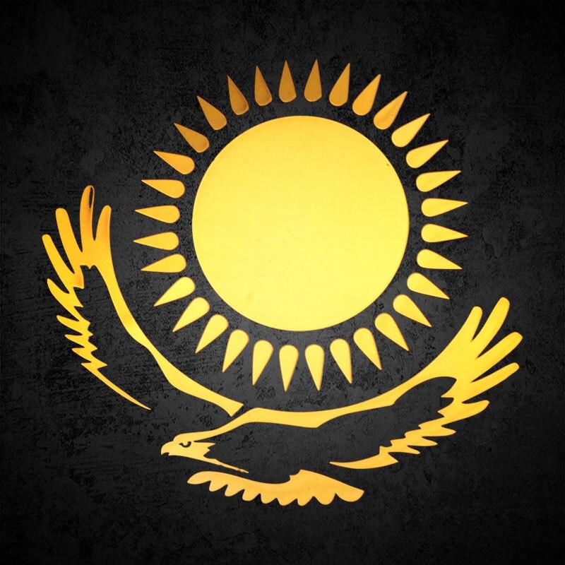 Car Styling 3D Kazakhstan Sun Eagle Emblem Body Badge Interior Exterior Decoration Sticker Metal Auto Emblem Motorcycle Decals