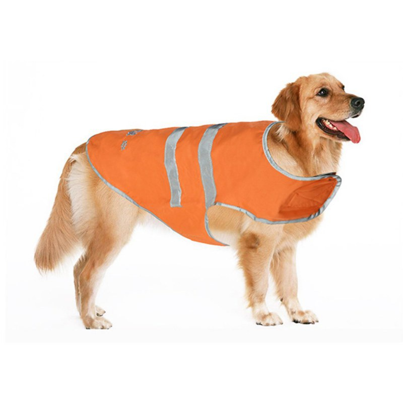 font b Pet b font Reflective Rain Coat Nylon Clasp Orange Waterproof Vest Jacket Dog
