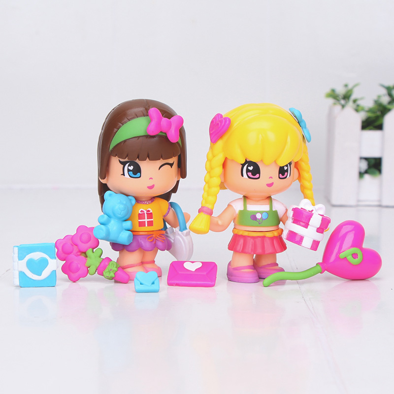 Image 2 - cute princess Pinypon dolls Detachable Kids doubleface Action Toy Figures Dolls-in Action & Toy Figures from Toys & Hobbies