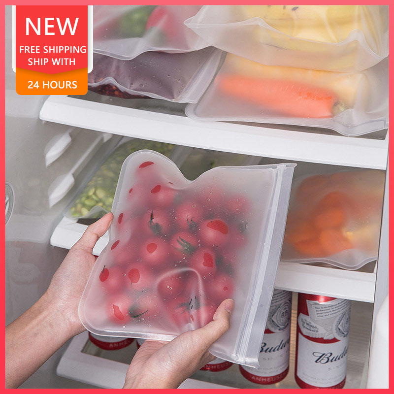 1.44US $ 31% OFF Transparent Sealed Storage Bag With Organic Silicon For Storing Fruits And Vegetabl...