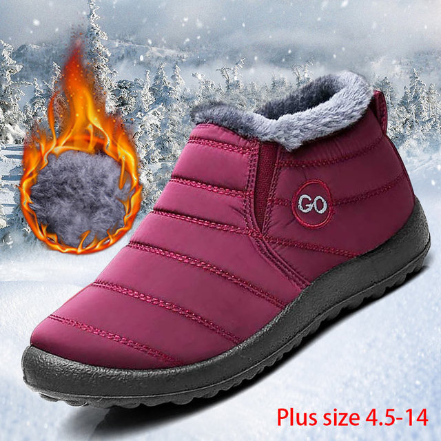 Women snow boots new waterproof winter boots solid casual shoes