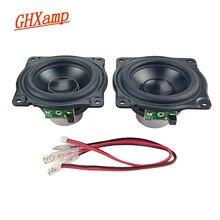 GHXAMP 3 بوصة 15 واط طويلة السكتة الدماغية مكبر الصوت MIDrange المتكلم منخفضة التردد المطاط الألومنيوم الحجاب الحاجز مكبر الصوت لتقوم بها بنفسك ل AURA 1 Pairs