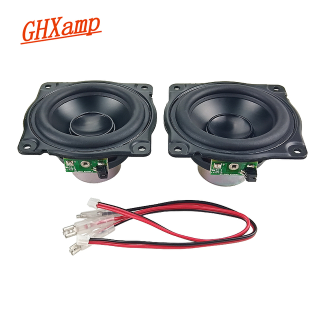 GHXAMP 3 INCH 15W Long Stroke Woofer MIDrange Speaker Low frequency Rubber Aluminum Diaphragm Loudspeaker DIY For AURA 1 Pairs