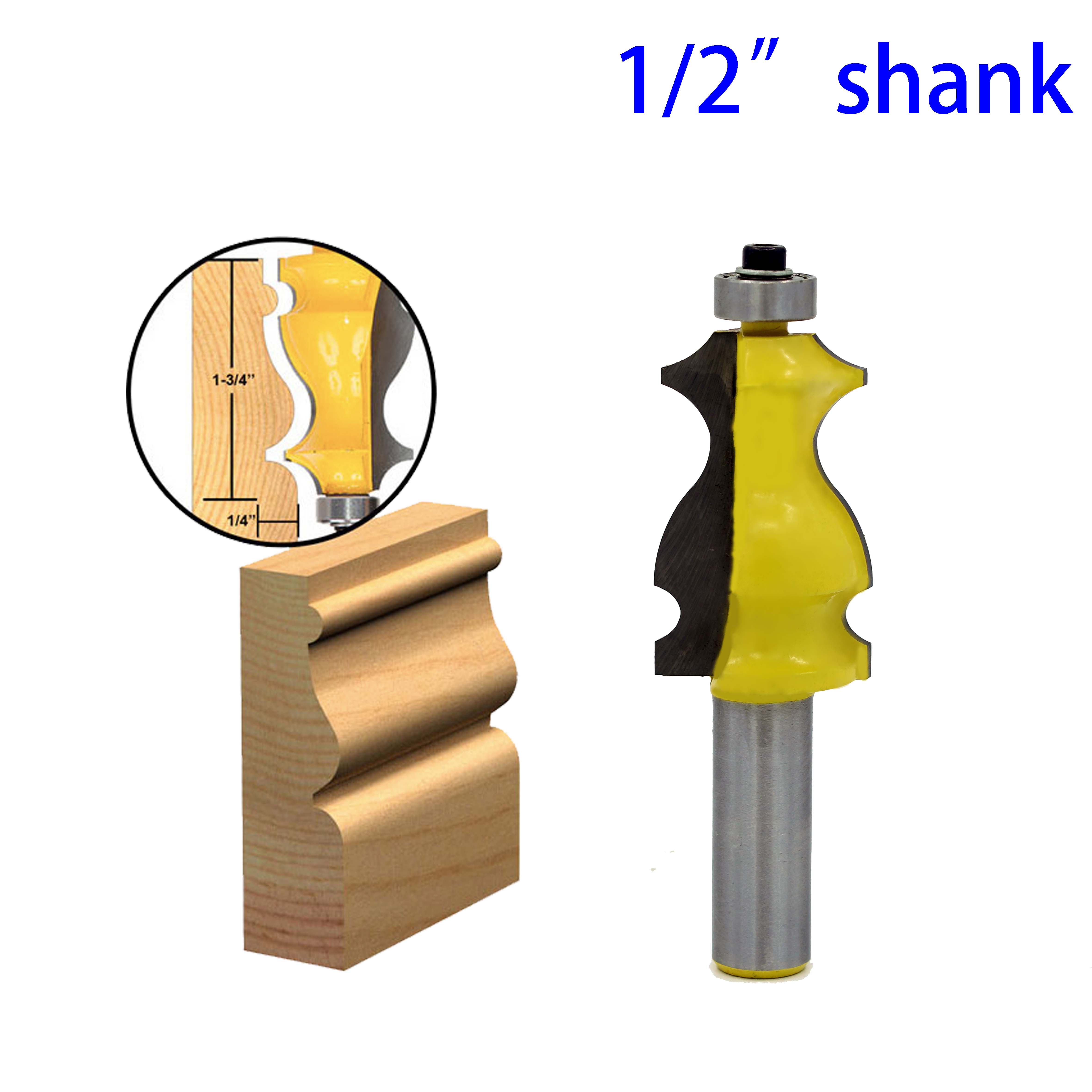 1PC Architectural Molding Router Bit 1/2