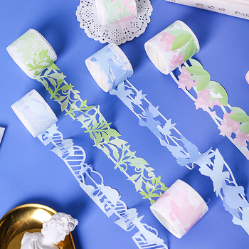 Decorative Plant Hollow Synthesis Washi Tape Set Japanese Paper Stickers Scrapbooking Vintage Adhesive Washi Tape Stationery