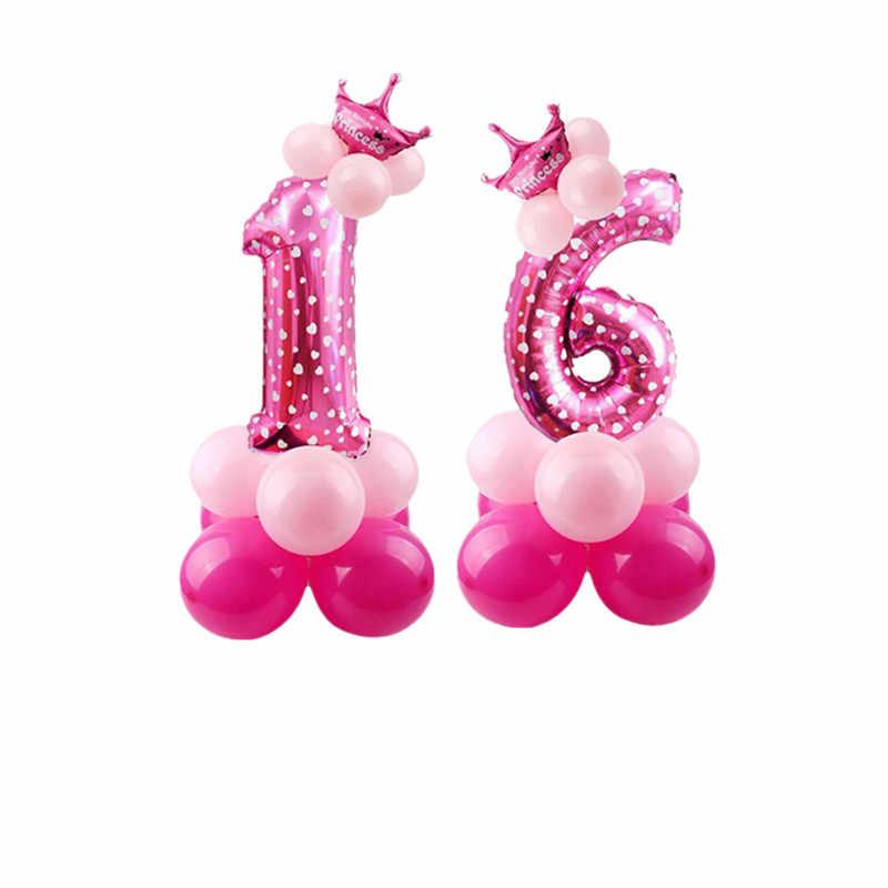32 นิ้วลูกโป่งของเล่นเด็ก Happy Birthday PARTY Decor Theme การ์ตูน Inflatable PARTY หมวกคอลัมน์ของขวัญของเล่นเด็ก