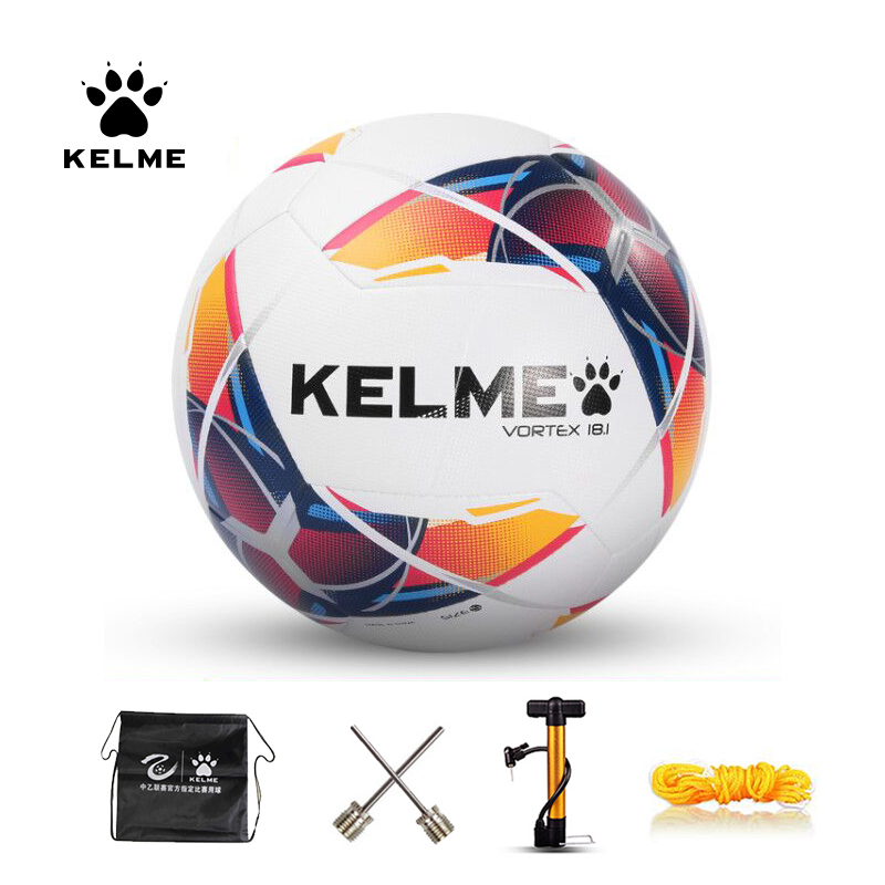 KELME Professional Soccer Ball Football Ball PU Size 4 Size 5 Red Blue Green Training Outdoor Football Official Match 9886120
