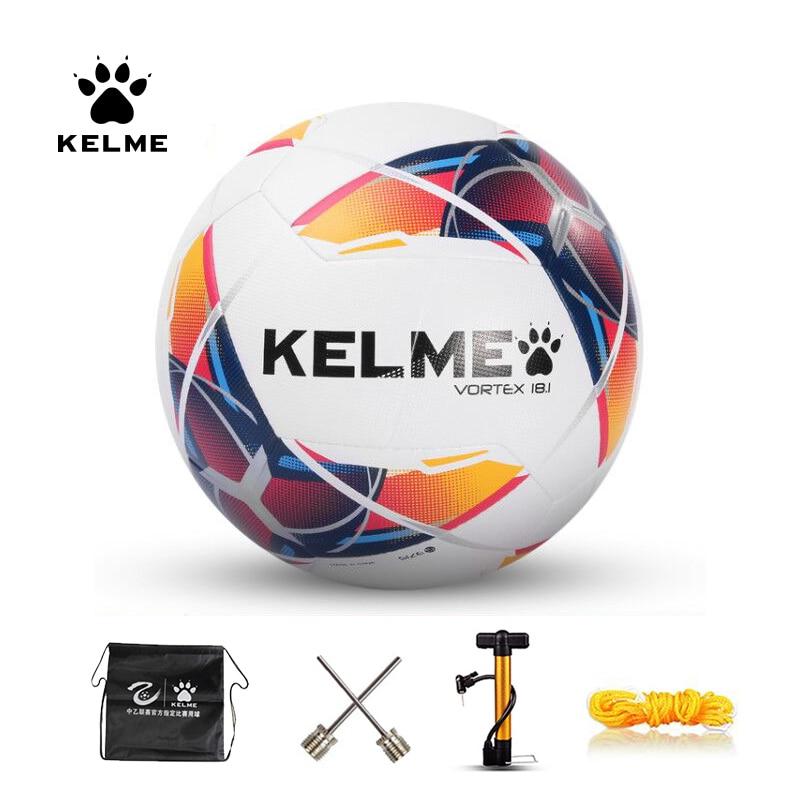 KELME Professional Soccer Ball Football Ball PU Size 4 Size 5 Red Blue Green Training Outdoor Football Official Match 9886120