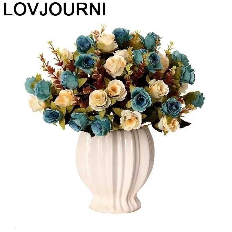 Jardim Para Casa, accesorios De oro, Moderno Vaso De Flor, decoración del hogar, Jarrones Decorativos, florero Moderno