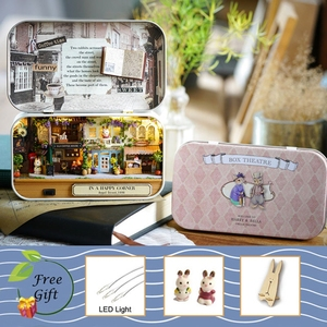 Doll House Wooden doll Houses Miniature dollhouse Furniture Kit Toys Children Christmas Toy Children Christmas Puzzle Gift L026