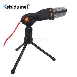 Image 1 - Microfone de estúdio de som portátil sf666 para computador bate papo pc laptop notebook karaoke mic para telefones celulares