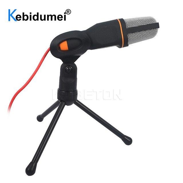 Microfone de estúdio de som portátil sf666 para computador bate papo pc laptop notebook karaoke mic para telefones celulares