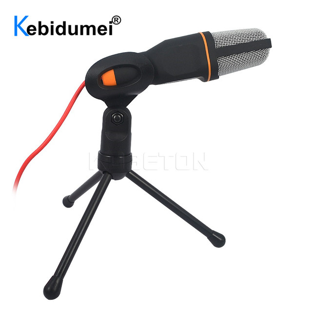 SF666 Handheld Microphone Sound Studio Microphone For Computer Chat PC Laptop Notebook Karaoke Mic For Mobile Phones