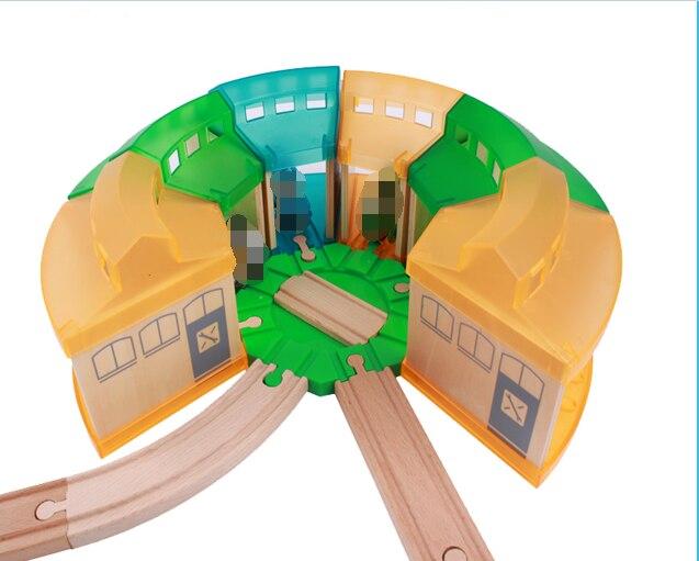 Trem de madeira t040w diesel 10 caminhão magnético carro locomotiva motor ferroviário brinquedos para crianças