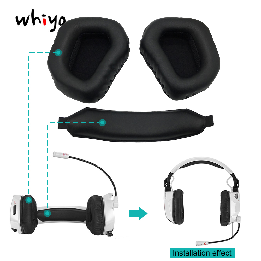 1 set of Earmuff Ear Pads Cushion Cover Earpads Replacement Cups for MADCATZ F.R.E.Q.TE 7.1 Headphones Sleeve Headset