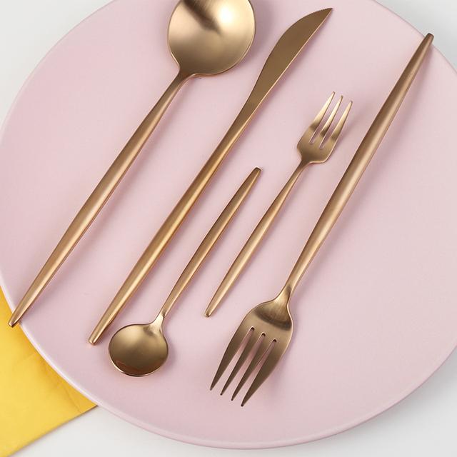 KuBac Hommi 30pcs Black Gold Cutlery set White matte dinnerware set Black Tableware For 6 People Drop Shipping