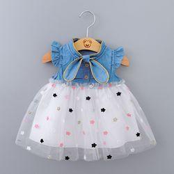 Meninas do bebê vestido de verão princesa festa tule vestidos da criança roupas infantis recém-nascidos festa de aniversário tutu vestido 0-2y