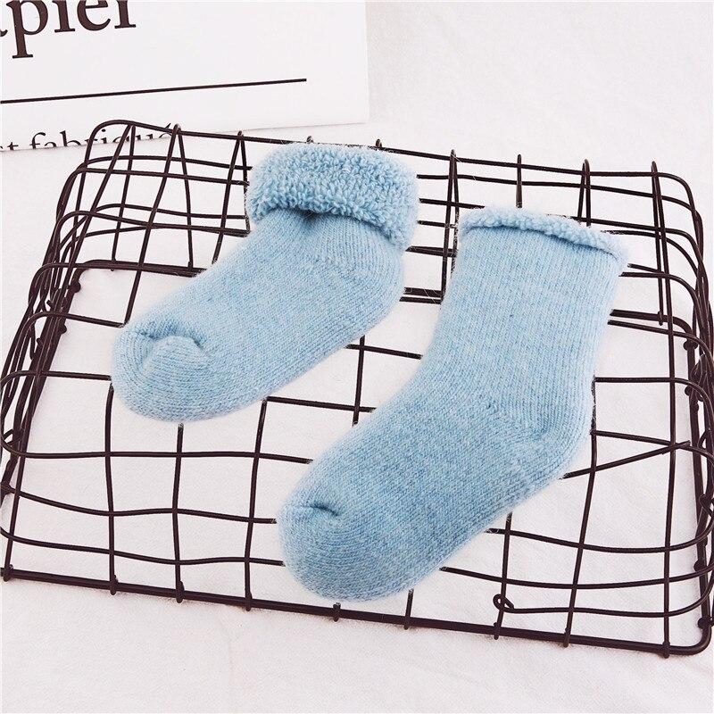 Real Woolen Thick Baby Kids Socks Sports Winter Soft Warm Socks For Children 0-7 Years Boys Girls Thermal Floor Baby Socks