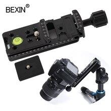 Kamera uzun hızlı serbest bırakma kelepçesi Tripod kelepçe Dslr standı montaj adaptörü kamera braketi Arca Swiss plaka nokta kamera