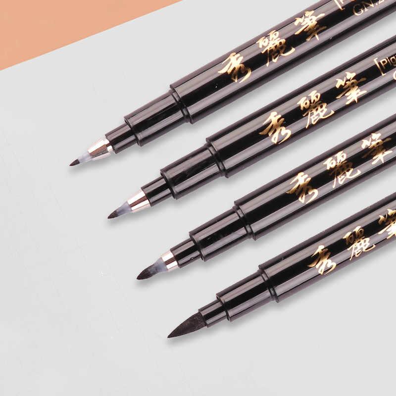 1 adet kaligrafi kalemi seti güzel astar ucu orta fırça kalemler İmza çizim el yazı okul albümü sanat malzemeleri