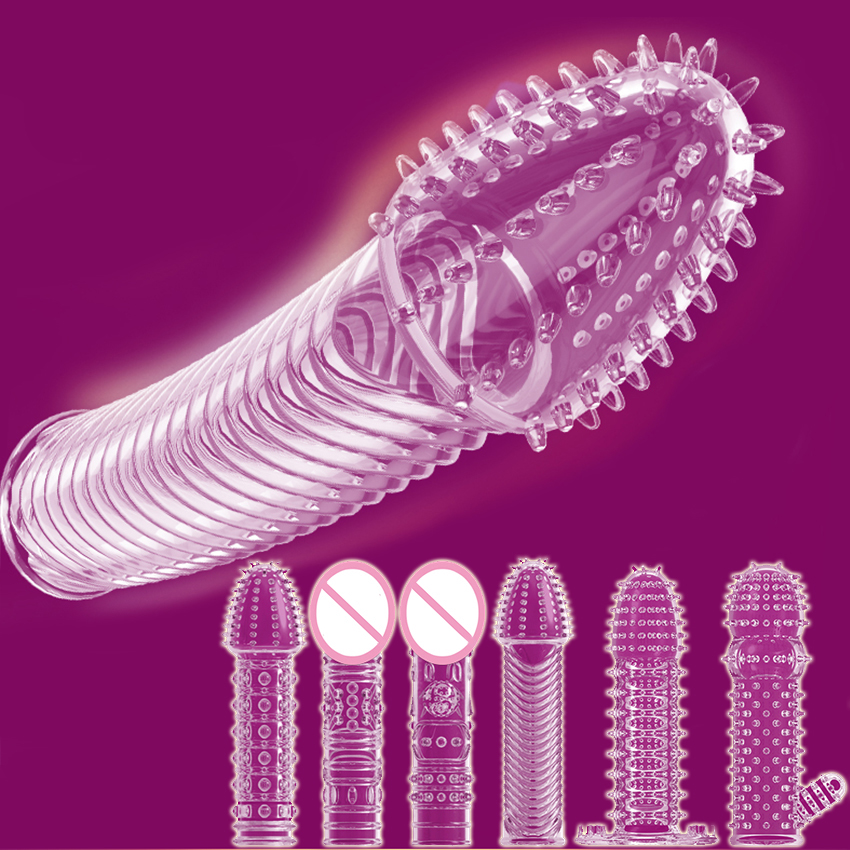 Nozzle For Penis Sleeves For Penis Enlargement Cock Sex Toys Condoms With Spikes/Tendrils Condoms For Men Reusable Condom Ribbed
