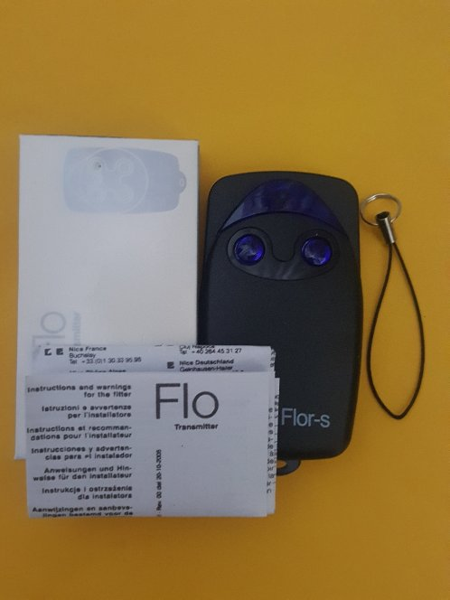Télécommande Flor flor-s flo1r-s flo2r flo4r-s ERA INTI ONE 2 ON2E transmetteur pour porte de garage 433.92mhz code roulant