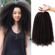 Современные королевские мягкие афро кудрявые натуральные мягкие косички Marley для наращивания косичек 18 дюймов 100 г синтетические вязанные косички для волос