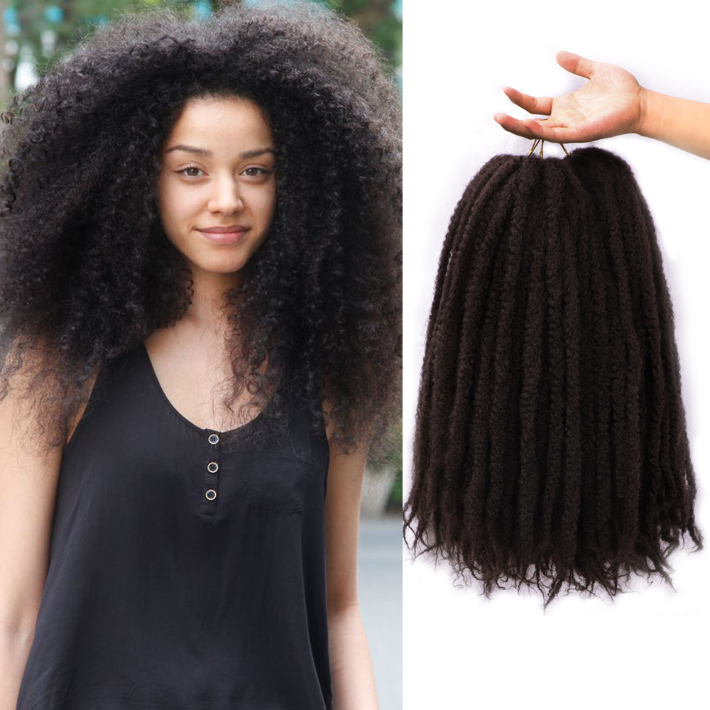 MODERN QUEEN Soft Afro Kinky Natural Soft Marley Braiding Extension For Braids 18