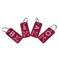 Chaveiro bordado tipo de sangue a + b + ab + o para roupas, motocicletas, mochilas ao ar livre, emblemas oficial