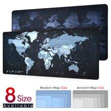 Neue Welt Karte Geschwindigkeit Locking Rand Große Natürliche Gummi Maus Pad Wasserdicht Spiel Schreibtisch Mauspad Tastatur Matte für Warcraft Dota LOL