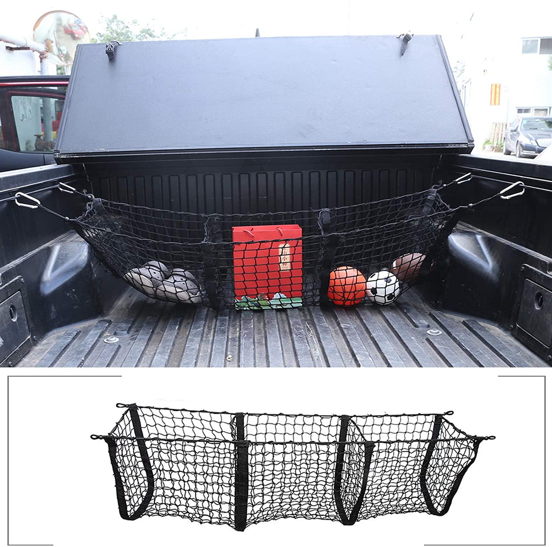 Карманный сетчатый органайзер для грузовых автомобилей, грузовиков и багажников, черный сетчатый органайзер для хранения для Toyota Tacoma 2005-2020,...