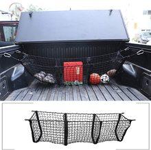 Car Truck Bed tre tasche Pickup Trunk Mesh Cargo Organizer rete di stoccaggio nero per Toyota Tacoma 2005 2020 accessori esterni