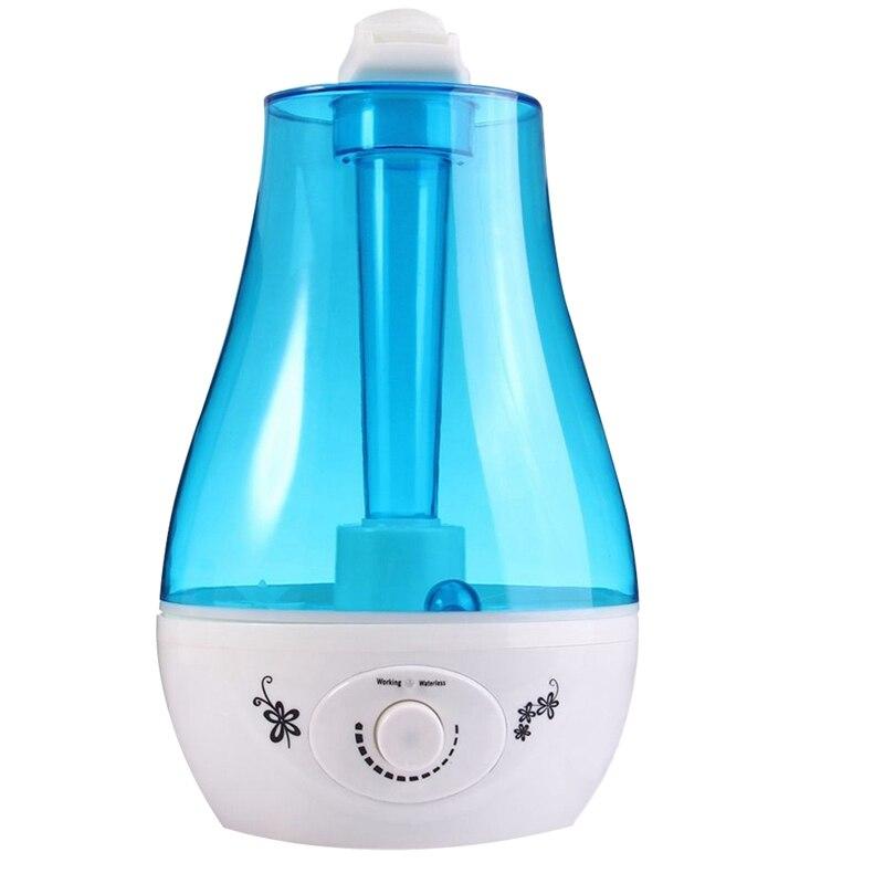Ev Aletleri'ten Nemlendiriciler'de 3L ultrasonik hava nemlendirici Mini Aroma nemlendirici hava temizleyici LED lamba nemlendirici ile taşınabilir difüzör Mist yapmak abd Plug title=