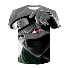 2021 summer new style Japanese anime Kakashi 3D T-shirt male O-neck cartoon T-shirt tops men and women breathable Harajuku cloth
