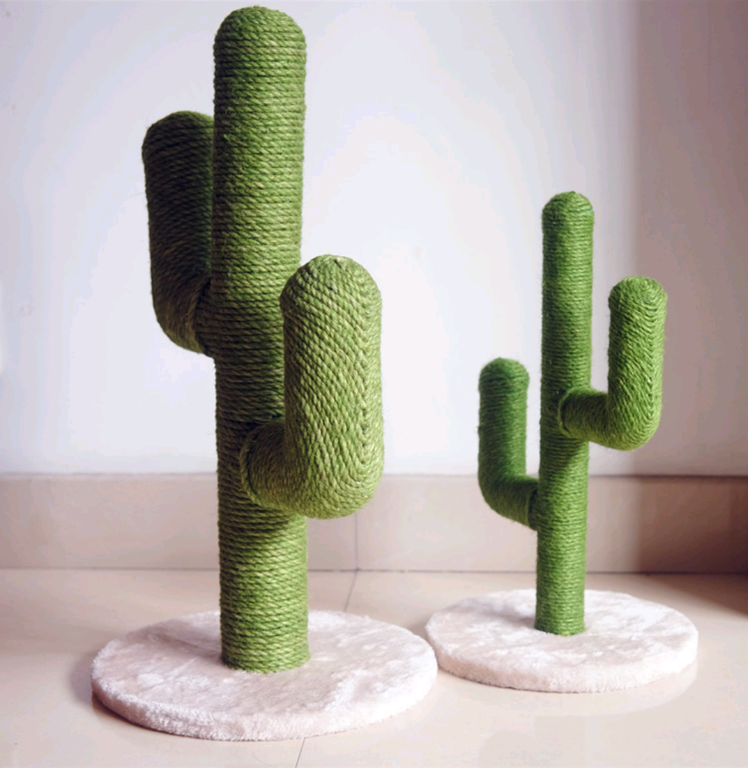Griffoir Chat Fait Maison us $28.44 18% off|sisal cactus cat tree cats climbing rack vertical claw  board pet supplies creativity plush sisal cat toys interactive on aliexpress