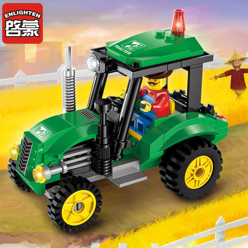 112pcs Legoingly City Series Tractor Truck Construction Bricks Kids Toys Assembled Building Blocks Compatible Gifts