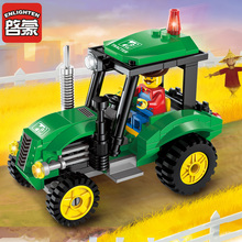 112pcs Legoingly City Series Tractor Truck Construction Bricks Kids Toys Assembled Building Blocks Compatible Gifts dhl lepin 17002 compatible legoingly 10181 paris eiffel tower set model building blocks bricks as birthday gifts toys for kids