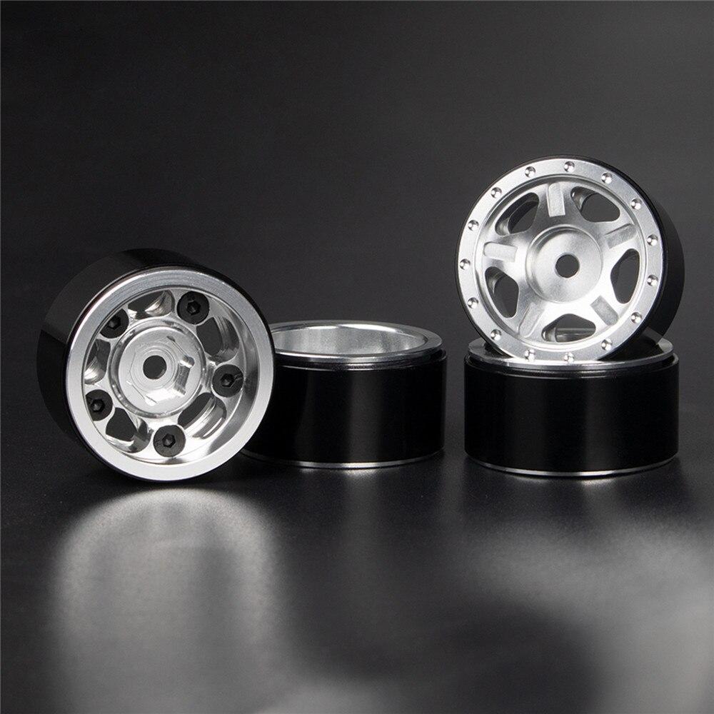 Aluminum Beadlock Wheel Rim Set for Axial SCX24 Deadbolt C10 JLU B-17 RC Crawler Car Modification Parts