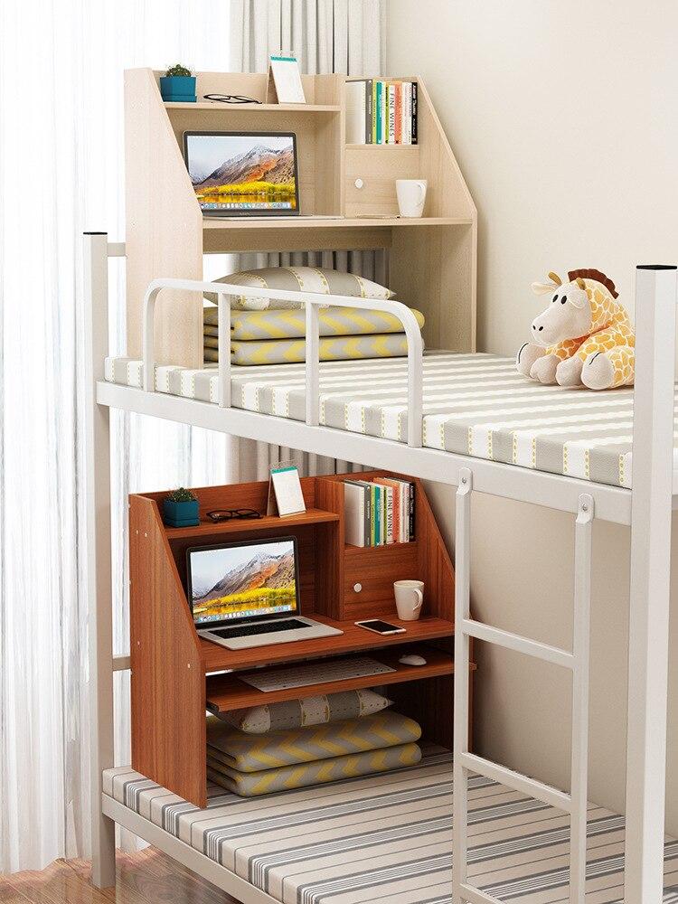Кровать, стол для ноутбука, столик для ленивых студентов колледжа, двухъярусная кровать для обучения в общежитии, простой маленький стол