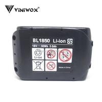 Substituição da bateria de íon de lítio de 5000 mah 18 v bl1850 para makita bl1830 bl1840 bl1850b bl1815 lxt400 baterias recarregáveis 36 v