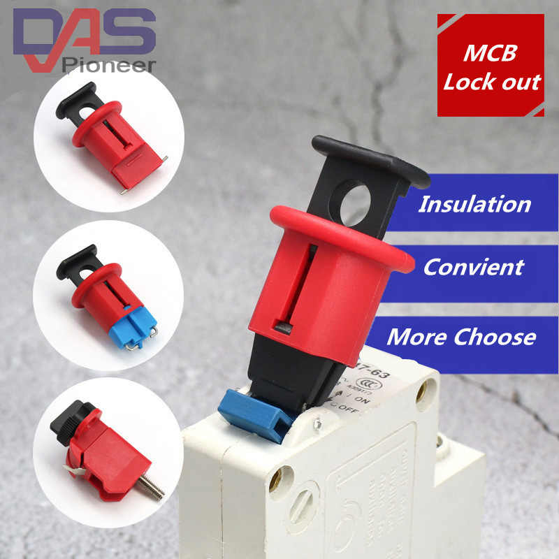 Circuit Breaker Lock Electrical Safety Lockout Miniature Air Switch Breaker Lockout for Power Isolation pinout