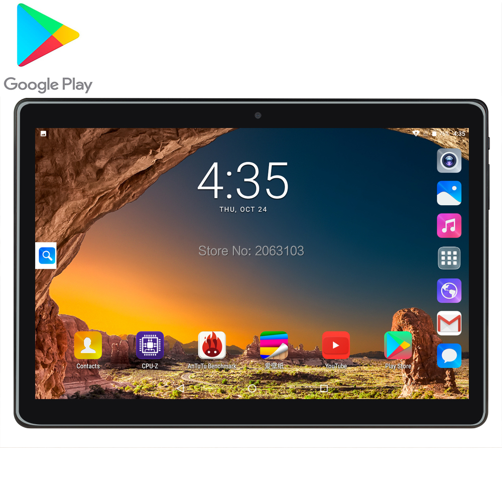 10.1 Inch PC Tablet Android 7.0 3G  Cell Phone Call Quad Core RAM 2G 32GB ROM Dual SIM Card Wi-Fi Bluetooth  IPS 2.5D