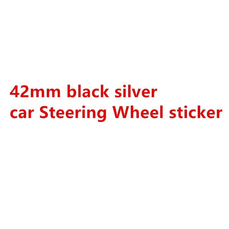 1 шт. 42 мм черный серебристый автомобильный значок на руль эмблема наклейка на руль авто Стайлинг автомобильные аксессуары