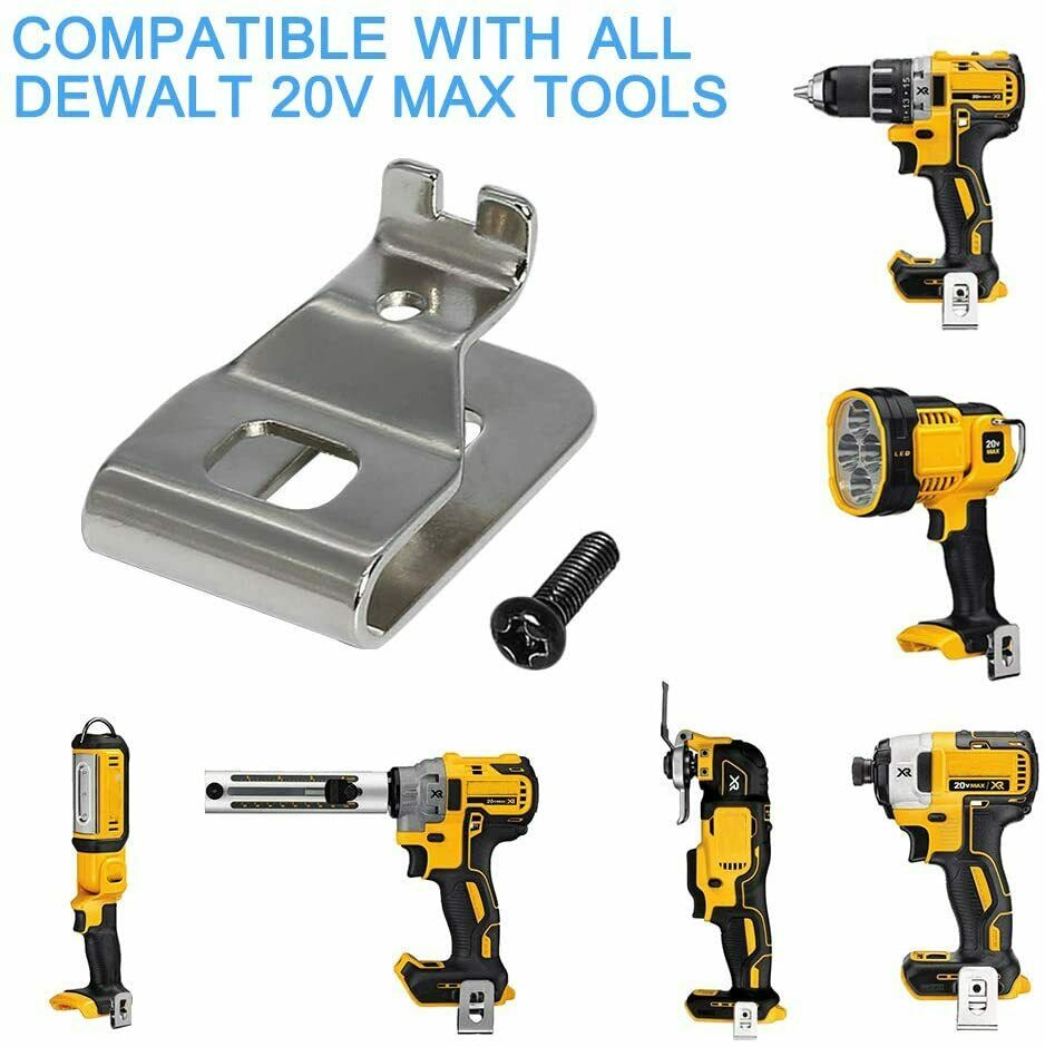 12pcs/bag Belt Clip Hook For Dewalt 20V Max Tools Easy Installation Free Shipping