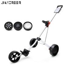 JayCreer 3 Wheels Or 2+2 Wheels Portable Folding Golf Pull Push Carts