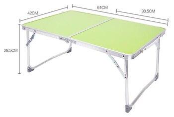 61*42*28.5cm Folding Laptop desk Portable Notebook table Lazy Bed desk