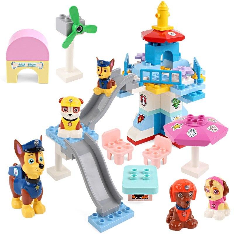 Original Paw Patrol hund Welpen Patrulla Canina Lookout Turm hund bausteine Kompatibel mit LEGOINGLYS spielzeug für kinder