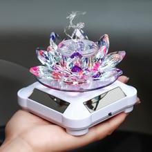 Car Perfume Seat Solar Lotus Perfume Seat Car Decoration Crystal Lotus Perfume Without Perfume Car Air Purification Key Fresh Ai